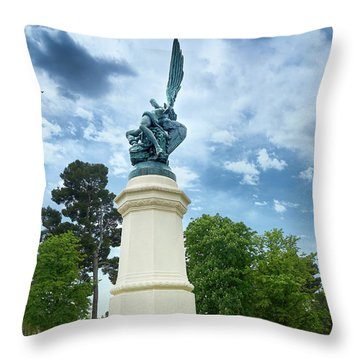 Exiled From Paradise, The Fallen Angel Throw Pillow