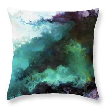 Throw Pillow featuring the painting Exodus 14 14. The Lord Shall Fight For You by Mark Lawrence