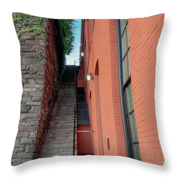 Exorcist Stairs Beauty Throw Pillow