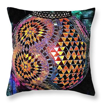 Throw Pillow featuring the photograph Exotic Oriental Mosaic by Dorothy Berry-Lound