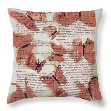 Exotic Scripts Throw Pillow