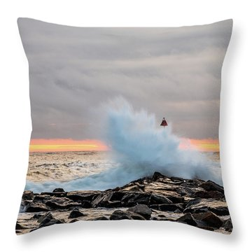 Explosive Sea 2 Throw Pillow