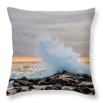 Explosive Sea 3 Throw Pillow