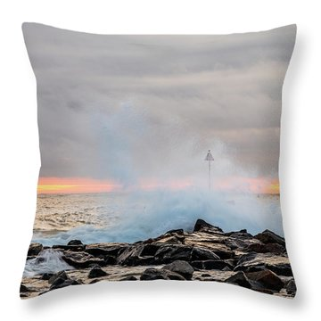 Explosive Sea 5 Throw Pillow