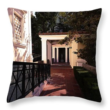 Exterior Amazing Getty Villa  Throw Pillow