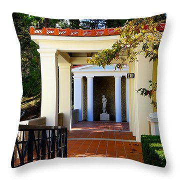Exterior Courtyard Getty Villa I  Throw Pillow