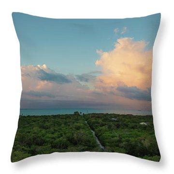 Exuma Skies Throw Pillow