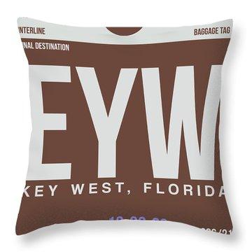 Eyw Key West Luggage Tag II Throw Pillow
