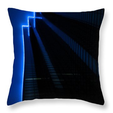 F For Fog Throw Pillow