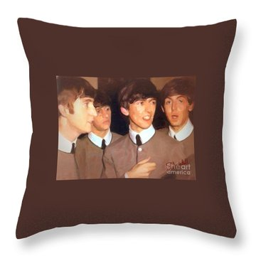 Fab Beatles Throw Pillow