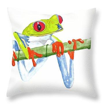 Fabio T Frog Throw Pillow