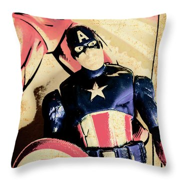 Faded Film Figurines Throw Pillow