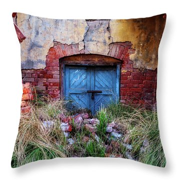 Faded In Time Throw Pillow