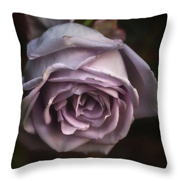 Fading Bloom Throw Pillow
