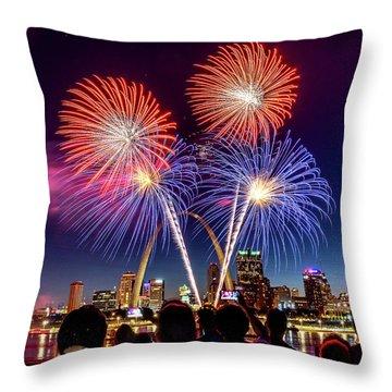 Fair St. Louis Fireworks 6 Throw Pillow