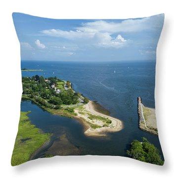 Fairfield And Black Rock Connecticut Throw Pillow