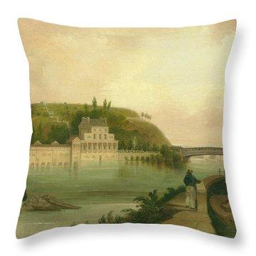 Fairmount Waterworks About 1838 Throw Pillow