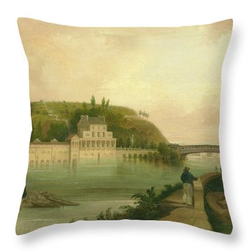 Fairmount Waterworks About 1838 Throw Pillow