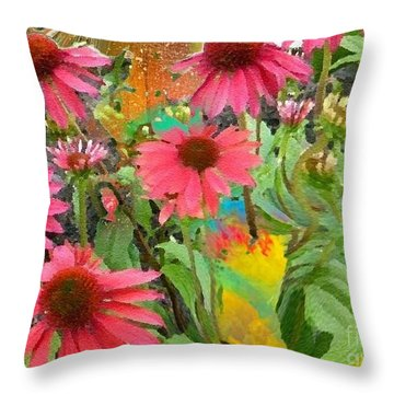 Fairy Among The Flowers Throw Pillow