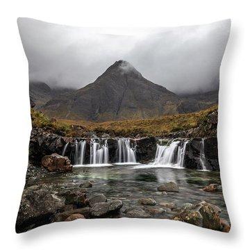Pools Of Skye Throw Pillow