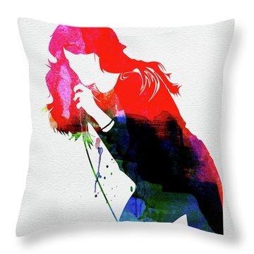 Faith Hill Watercolor Throw Pillow