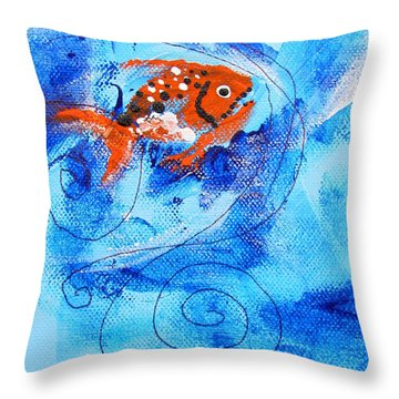 Fake Nemo Fish Throw Pillow