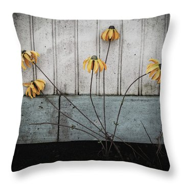 Throw Pillow featuring the photograph Fake Wilted Flowers by Steve Stanger