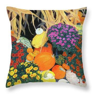 Fall Bounty Throw Pillow