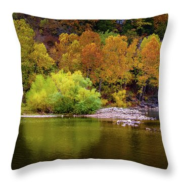 Fall Colors Of The Ozarks Throw Pillow