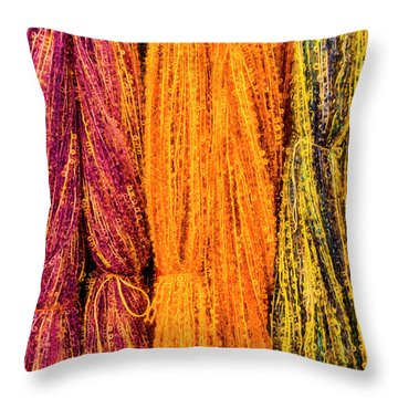 Fall Fibers 2 Throw Pillow