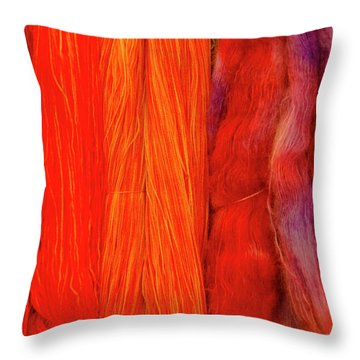 Fall Fibers 3 Throw Pillow