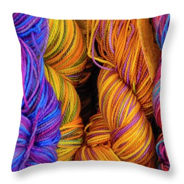 Fall Fibers Throw Pillow