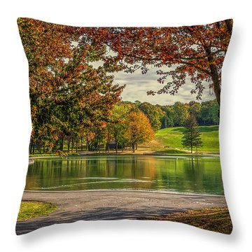 Fall In Montreal Throw Pillow