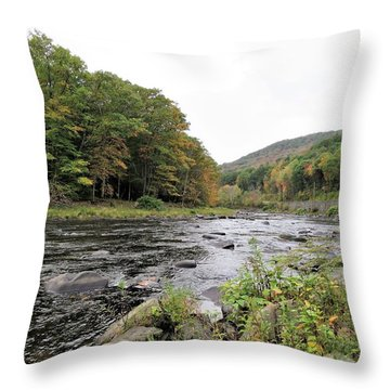 Fall In The Beaverkill Valley Throw Pillow