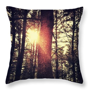 Fall Of Light Throw Pillow