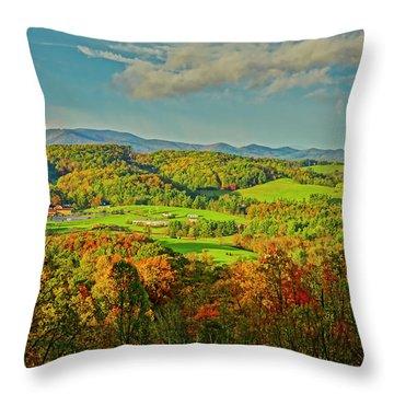 Fall Porch View Throw Pillow