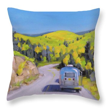 Fall Road Trip Throw Pillow