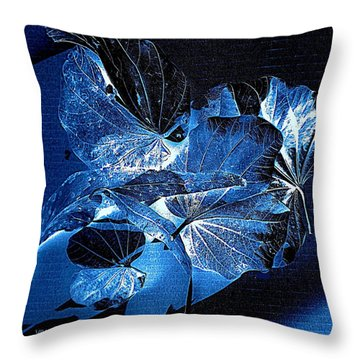 Fallen Leaves At Midnight Throw Pillow