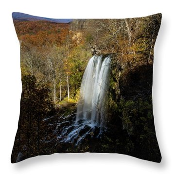 Throw Pillow featuring the photograph Falling Spring Falls by Pete Federico