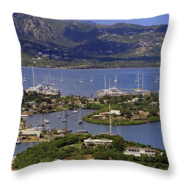 Throw Pillow featuring the photograph Falmouth Harbour by Tony Murtagh