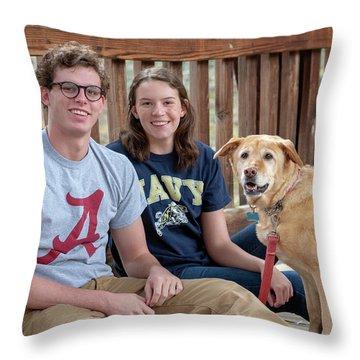 Family Dog Throw Pillow