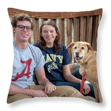 Family Dog Throw Pillow