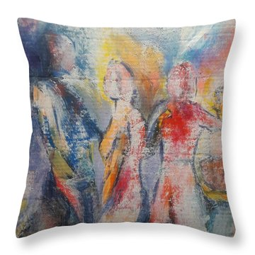 Family Reunion Throw Pillow