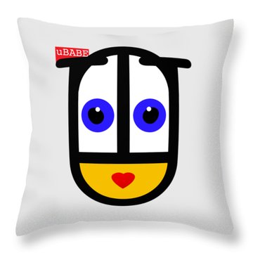 Famous Female Face Throw Pillow