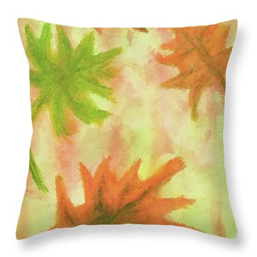Fanciful Fall Leaves Throw Pillow