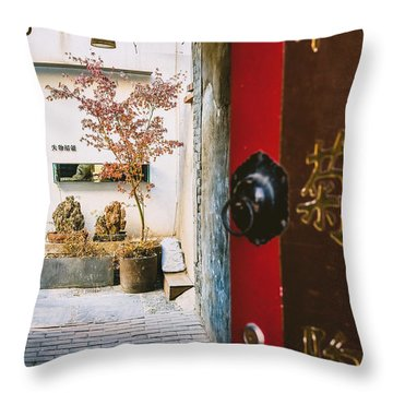 Fangija Hutong In Beijing Throw Pillow