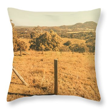 Farm Fields Of Eumundi, Sunshine Coast Throw Pillow