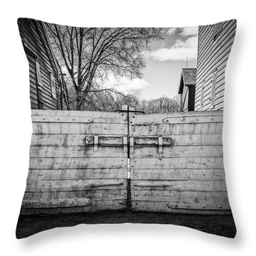 Throw Pillow featuring the photograph Farm Gate by Steve Stanger