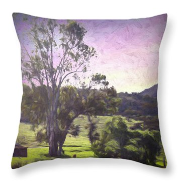 Farm Scene Throw Pillow