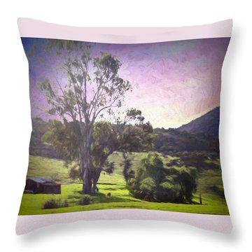 Farm Scene Throw Pillow